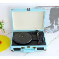 ფირსაკრავი GOKA - RP01 ცისფერი Vinyl - Bluetooth - USB