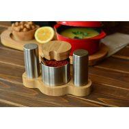 ბამბუკის ჭურჭელი - მაგიდის აქსესუარები Spice B0200