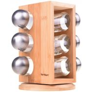 Bambum Tina B2250 Rotating Spice Rack with 6 Bottles