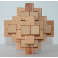 Wooden puzzle 24 Pieces geostyle wood art