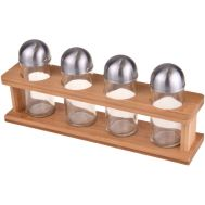 Bambum Dito B0578 Spice Rack with 4 Bottles