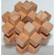​​Wooden puzzle 12 pieces (2 Keys) Geostyle wood art