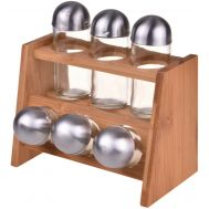 Bambum Pacito B0576 Spice Rack with 6 Bottles