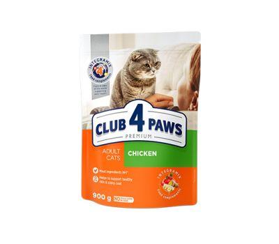კატის საკვები CLUB 4 PAWS მშრალი საკვები ქათმის ხორცით 5კგ
