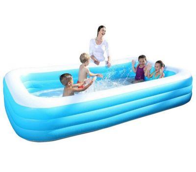 Deluxe Blue Rectangular Family Pool