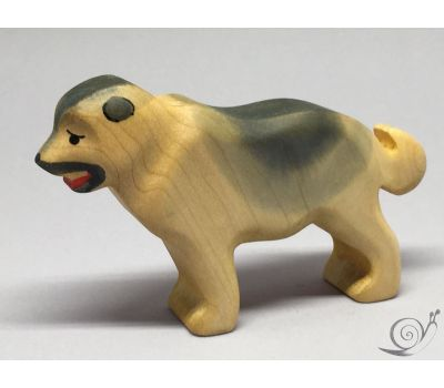 ხის სათამაშო - მთის მეცხვარე ძაღლი შავი (ლეკვი)