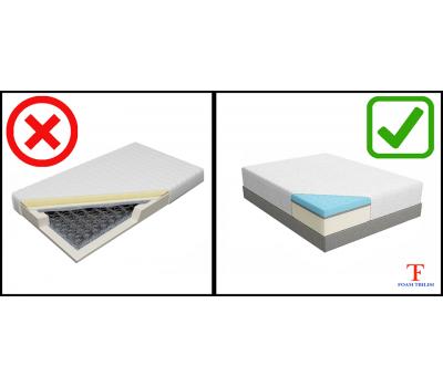 Sponge mattress with massager (200x80 - 200) SM