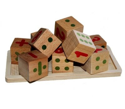 Wooden toys, Wooden toy Mathematical cubes